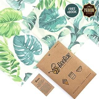 BeeBae Premium Beeswax Food Wrap Set of 3 + Free E Book   Organic Natural Zero Waste Beeswax Wrap   Cling Wrap Alternative + Plastic Free   Reusable Food Wrap   Bees Wax Wrap For Food   Beeswax Wraps
