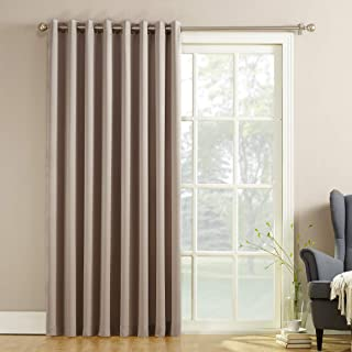 """Best Sun Zero Barrow Extra-Wide Energy Efficient Sliding Patio Door Curtain Panel with Pull Wand, 100"""" x 84"""", Stone Review"""