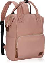 Veegul Wide Open Multipurpose Travel Backpack Lightweight Casual Daypack 18L Light Pink