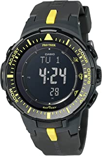 Men's PRG-300-1A9CR Pro Trek Triple Sensor Tough Solar Digital Display Quartz Black Watch