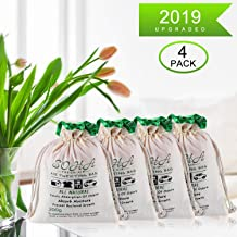 Charcoal Air Purifying Bag, Activated Charcoal Odor Absorber, Nature Fresh Air Purifier Bags for Odors, Home, Cars, Shoes, Closets, Pets, Breathe Green Charcoal Bags 200G Value 4Pack