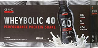 GNC AMP Wheybolic 40 - Vanilla, 12 Bottles, Meal Replacement Shake