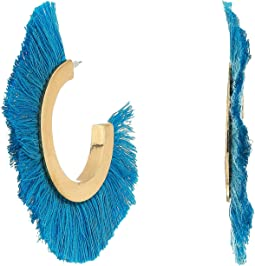 SHASHI - Tassel Hoop Earrings