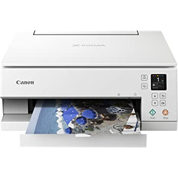 Canon TS6320 All-In-One Wireless Color Printer with Copier, Scanner and Mobile Printing, White, Amazon Dash Replenishment