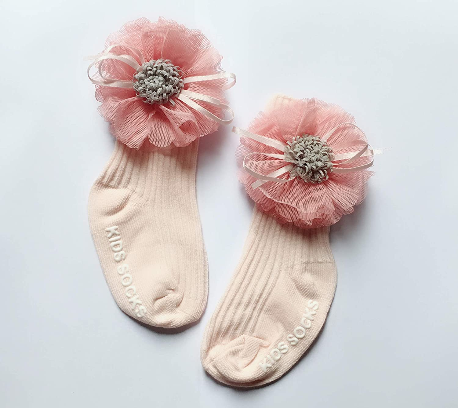 Vincecilia Little Girls for 0-4 years Flower Bowknot Princess Cotton Socks