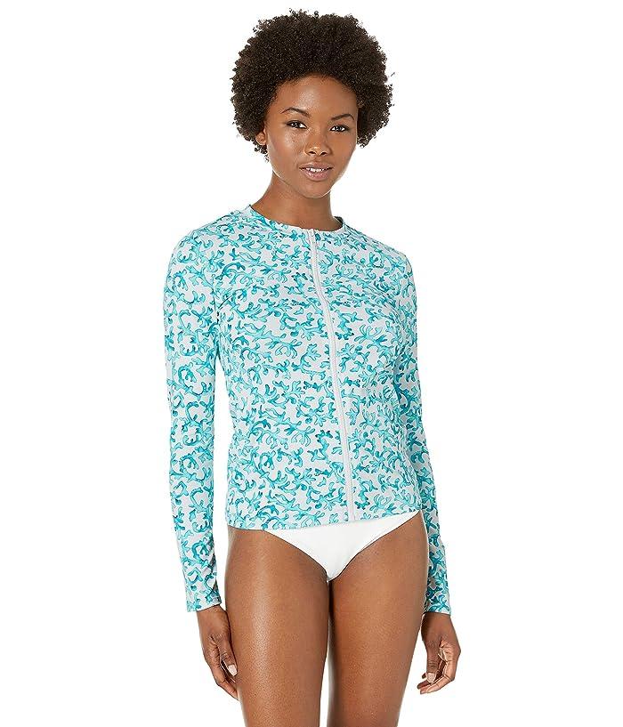 Tommy Bahama Coral Cabana Long Sleeve Rashguard (White) Women