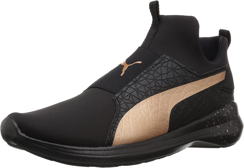 Amazon.com   PUMA Unisex-Adult Rebel Mid WNS Mettallic Sneaker ...