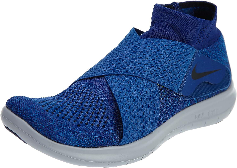 Nike Men's Free RN Motion Flyknit 2017, Binary bluee Black-Obsidian, 10.5 US