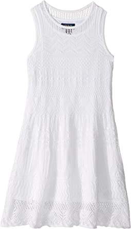 Combed Cotton Pointelle Dress (Little Kids)