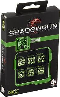 Qworkshop qworkshopssdh21 Shadowrun Decker D6 Dados Set (6 Piezas)