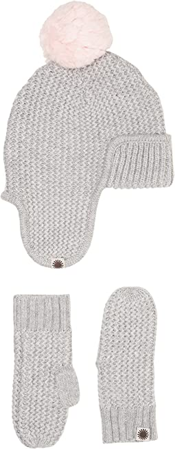 Trapper Hat/Mitten Gift Set (Toddler/Little Kids)
