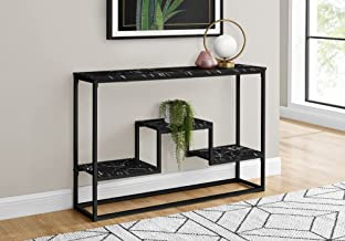 """Monarch Specialties Rectangular Long Narrow 3 Storage Shelves-for Living Room or Entryway-Multi-Tier Console Table, 48"""" L,..."""
