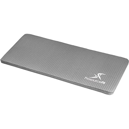 """ProsourceFit Rodillera y codera de Yoga de 15 mm, se Adapta a tapetes estándar para articulaciones Libres de Dolor en Yoga, Pilates, Ejercicios de Piso, Gris, 5/8""""/15mm"""