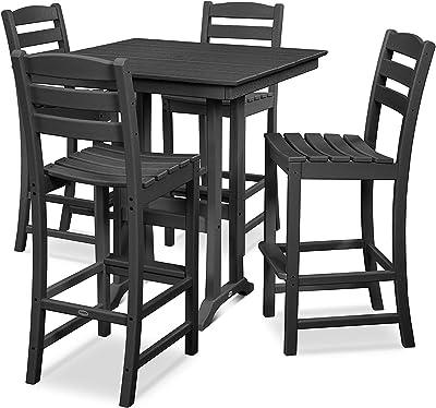 Amazon.com: Moderno juego de silla y mesa de pub ...
