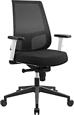 Modway Pump Mesh Ergonomic Computer Desk Swivel Office Chair in Black