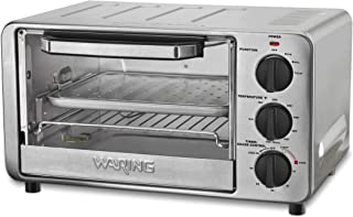 Waring Pro WTO450 Professional Toaster Oven, Brushed Stainless Steel (Renewed)