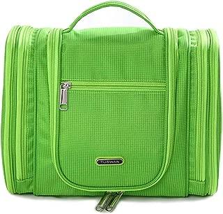Hanging Toiletry Bag Travel Cosmetic Makeup Kit Organizer for Women Men Large (1528 Green)
