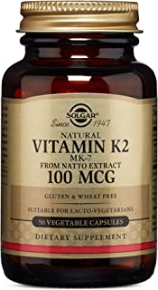 Solgar – Naturally Sourced Vitamin K2 (MK-7) 100 mcg, 50 Vegetable Capsules