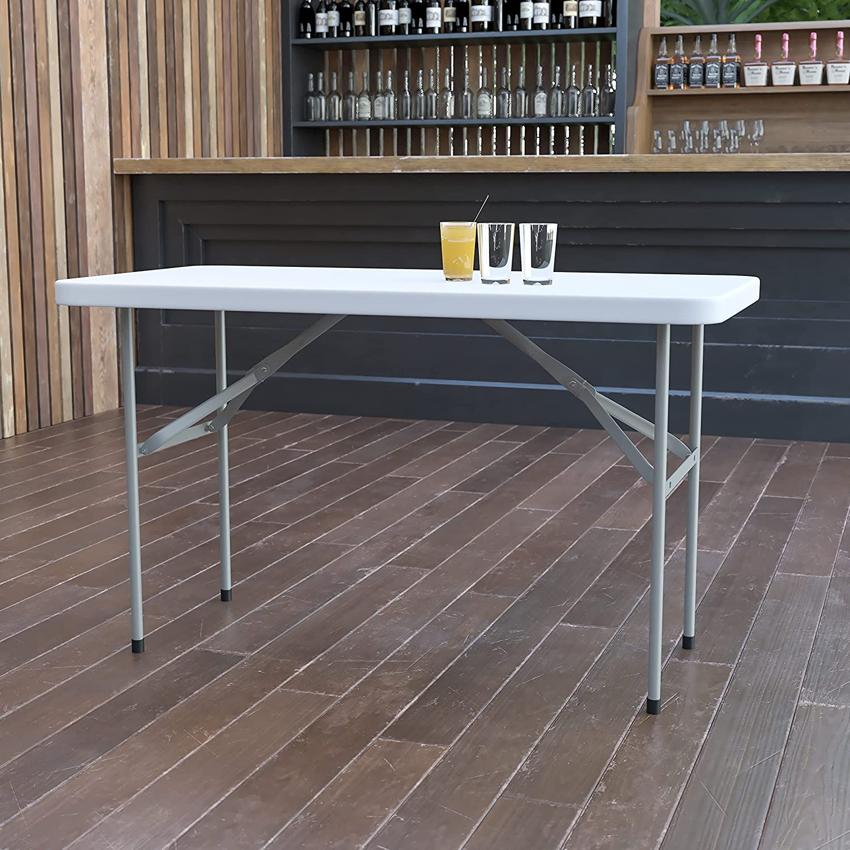 Flash Furniture 4-Foot Granite Table White Max 46% OFF favorite Folding Plastic