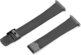 Hadley-Roma Men's MB3808RASQ 22 22-mm Black Fine Mesh Stainless Steel Watch Strap