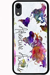 Adventure Awaits Watercolor Map for iPhone XR 6.1 2018 Case Cover by Atomic Market