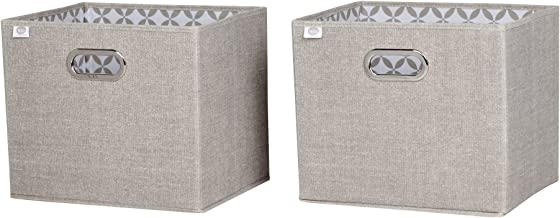 South Shore Storit Chambray Fabric Storage Baskets (2 Pack), Taupe
