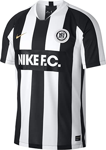 Nike M NK FC Home JSY Maillot SS , Homme, MultiCouleure (blanc noir Metallic or)