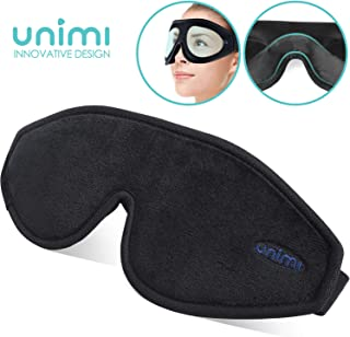 Eye Mask for Sleeping, Unimi 3D Contoured Sleep Mask & Blindfold for Men Women,Super Soft and Comfortable,100% Blockout Light 3D Eye Cover for Travel, Shift Work, Naps (Black#)