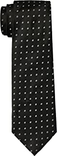 Van Heusen Men's Circle Dobby Tie, Black