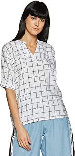 US Polo Association Women's Checkered Regular fit Top