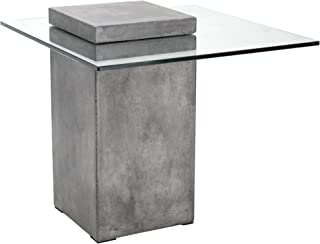 glass concrete table