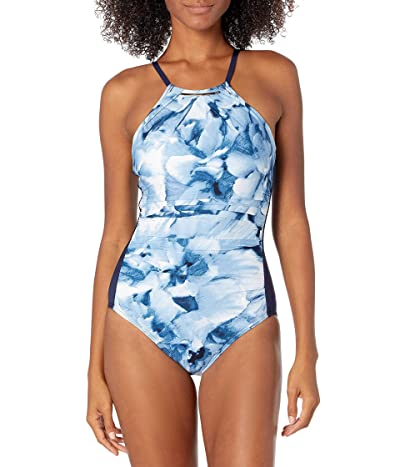 Calvin Klein One Piece Halter Swimsuit With Removable Soft Cups