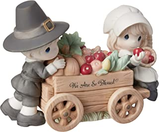 Precious Moments Blessed Thanksgiving Limited Edition Bisque Porcelain Figurine, Multi
