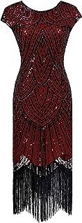 YENMILL Women's Flapper 1920s Sequins Art Deco Gatsby Cocktail Halloween Christmas Dress