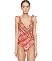 Moschino - India Theme Wrap Front Maillot
