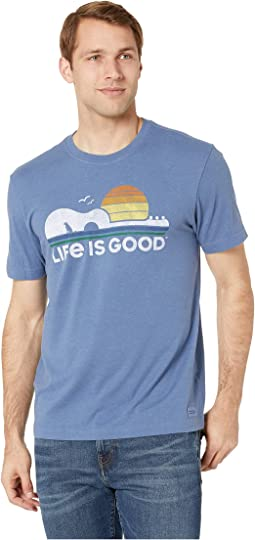 eb795eea Life is Good. Grateful Dad Crusher™ Tee. $27.95. Heather Vintage Blue