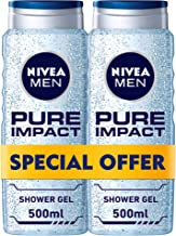 NIVEA, MEN, Shower Gel, Pure Impact, 2 x 500ml