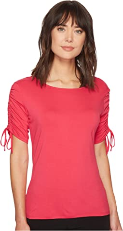 Vince Camuto - Drawstring Sleeve Top