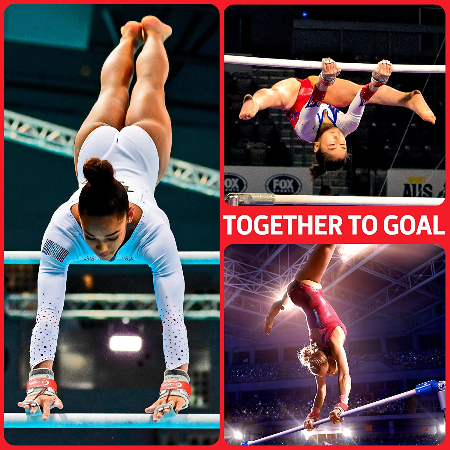 Hook /& Loop - Sold in Pairs The Original Competition Grade Uneven Bar Grips for Girls Gymnastics Zhezhera Professional Dowel Gymnastics Grips for Girls Uneven Bars