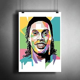 Ronaldinho Barcelona Milan Football Soccer Art Poster Photo Print Decor Artwork (A3 size (297×420 mm (11,7×16,5 inches))