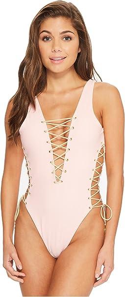 Luli Fama - La Corredera Open Side One-Piece Bodysuit
