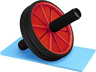 Reehut Ab Roller Wheels With Knee Pad - The Exercise Wheels with Dual wheels and Reinforced Steel Handles - Easy Assembly, Great for Abdominal Workout