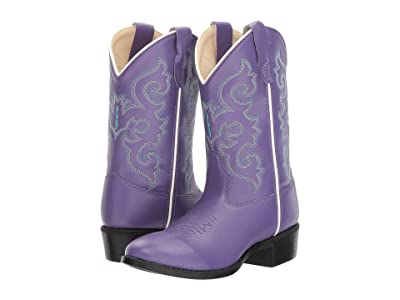 Old West Kids Boots Pearlized Purple (Toddler/Little Kid) (Purple) Cowboy Boots
