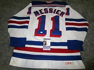 Mark Messier Autographed Jersey - Vintage w COA XL - JSA Certified - Autographed NHL Jerseys