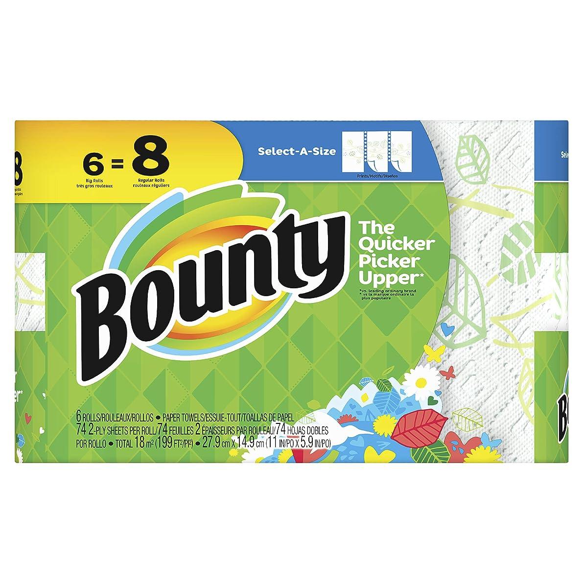 項目シネウィ男Bounty(バウンティ) ペーパータオル セレクトアサイズ プリント 6ロール(74カット)