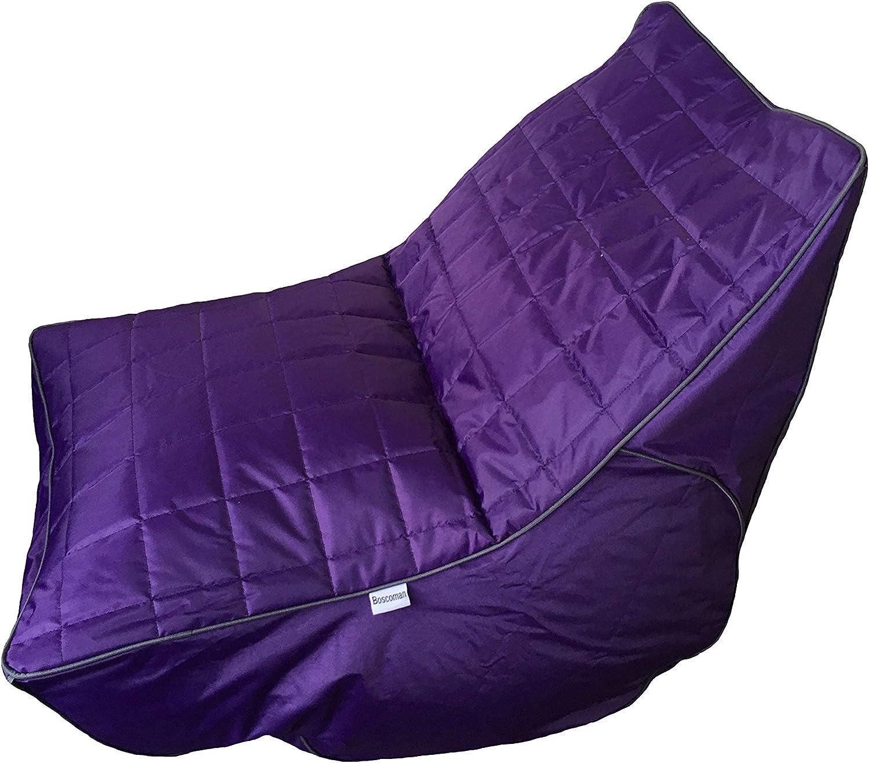 Boscoman - Cory Lounger Beanbag Chair - Purple (BOX XL)