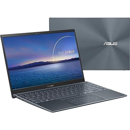 ASUS ZenBook 14 UX425EA-KI358T - Portátil  Full HD (Core i7-1165G7, 16GB RAM, 512GB SSD, Iris Xe Graphics, Windows 10 Home) Gris Pino - Teclado QWERTY español