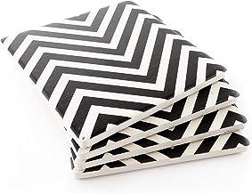 طقم قواعد أكواب مكون من 4 قطع من ثيرستيستون، أسود/أبيض