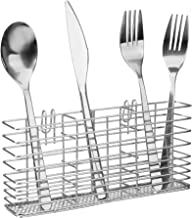 iPEGTOP Cutlery Utensil Silverware Drying Rack Basket Holder with Hooks - Flatware Storage Solution for Kitchen Dish Drainer Dish Drying Rack, Rust Proof