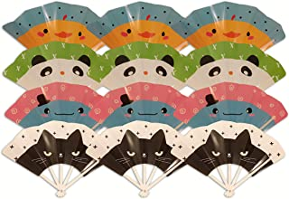 Hand Fans Toddler Birthday Party Favors for Kids; Mixed 12ct Fun, Safe; Folding Fan Toys Boys Girls